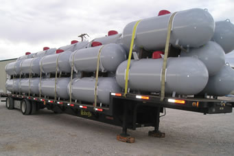 Re-conditioned 120-1000 gallon above ground ASME LP Tanks.